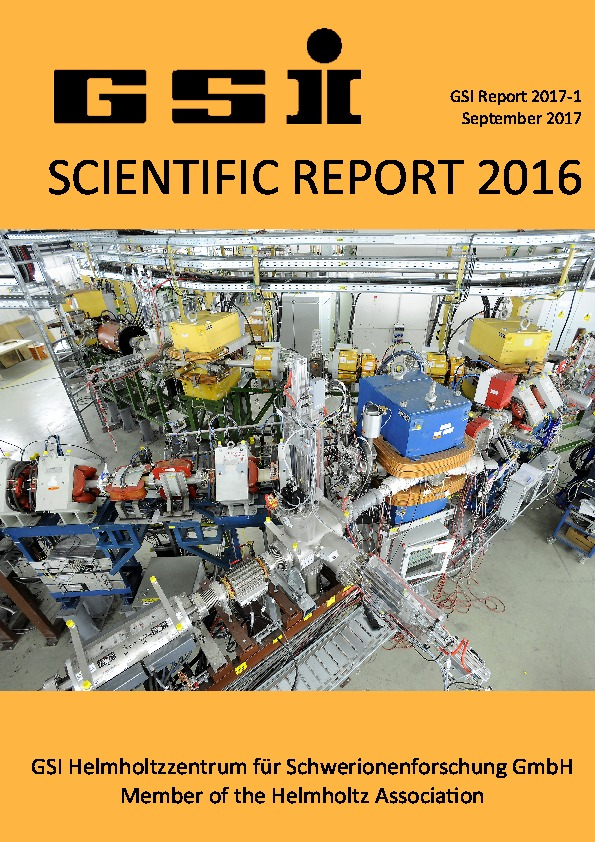 cover GSI Scientific Report